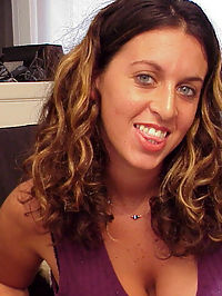 Teen plays with big naturals in the office