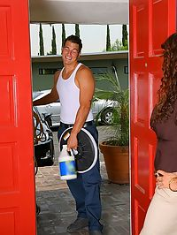 Beutiful hot big tits arielle ferrari gets fucked hard by her house cleaner in these hot cumfaced thick babe fucking pics