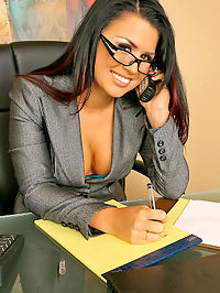 Ava gets pounded in these hot office pics