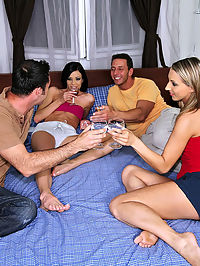 Banging hot fucking romanian babes share their hot pussies in these euro group sex cumfaced pics