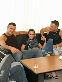 Two hotties getting dick from two lucky guys