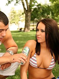 Amazng euro babes get together after a picnic for some hot gangbang aciton in these super hot orgy pics