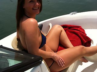Hot ass real ex gf fucked on a boat in this hot outdoor gf fuck picset