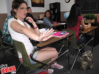 Watch hot high school mini skirt babe get drilled up her tight box in the class room hot after school fuck pics
