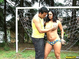 Super hot big ass brazilian babe gets her hot box rammed hard in the soccer field in these hot big ass brazil babe fucking pics