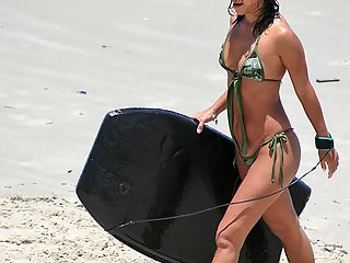 Caroline steps out the brazilian water in these hot beach fuck pics
