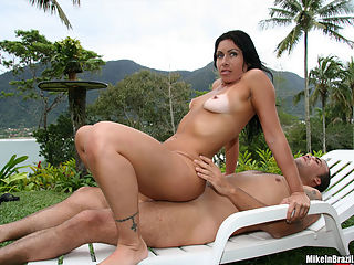 This sexy brazillian babe gets banged poolside in these pics