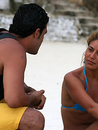 Brazillian bad ass babe gets dirty down on the beach in these pics