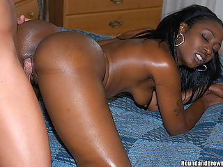 Awesome tits and ass on this black babe fucking hard