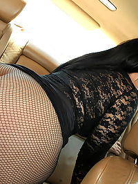 Super hot thick ass fishnet babe nailed hard after masturbating in the car real amateur fuck pics