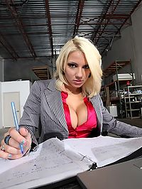 Smoking hot big tits architect babe gets her mini skirt ass box fucked hard in these warehouse fuck pics