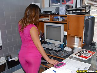 Super sexy hot ass latina gets fucked by her car mechanic in these office fucking cumfaced pics