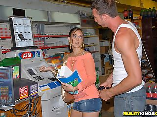 Check out hot leilani get her hot pussy fucked after getting her latina ass pickedup at the bank