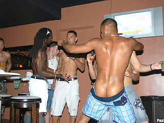 This papi party gets out of control when todd and the guys start suckin it right there on the dancefloor in these hot photos