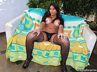 Beautiful hot long leg brazilian transexual gets power drilled hard against the patio furniture in these poolside fucking tranny pics