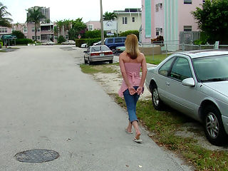 Older blonde tranny with hot body sucks and bangs some dude