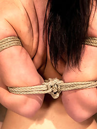 Big titted girl next door, severely bound, elbows together, made to cumSkull fucked and abused. : Welcome Chloe Reece Ryder, this hot 22yr with monster tits is flexible, tough and is new to hardcore bondage. Lets fuck her up a bit shall we?We start by brutally tying her elbows together, and chicken-winging her. On her knees we jam a hard cock in her mouth to choke on. After some face-fucking she is put on a bench and cruelly hogtied.A stocking is put over her head and pulled back, making her ability to breath and swallow difficult at best. We then finger bang her pussy and use a vibrator to make her cum over and over. With her movement totally restricted she is completely helpless and there is nothing she can do to prevent us from ripping orgasm after orgasm out of her.We then cut a hole in the mask and skull fuck her some more, gag her, and tighten up the bondage for good measure, we leave her suffering, unable to move the slightest. The bondage hurt, and every second she is left in she suffers..