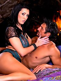 Dylan and Tommy hard core : Dylan Ryder and Tommy Gunn fuck next to fire place