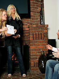 Puma Swede hardcore scene : Puma Swede and Kelly Madison in hardcore threesome