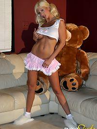 Puma Swede and teddy bear : Puma Swede gets bare and naughty with a teddy bear