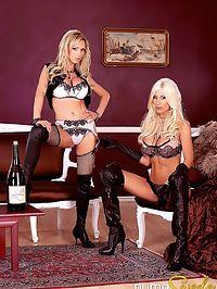 Puma Swede and Nikki Benz : Puma Swede and Nikki Benz have hot wet lesbian sex