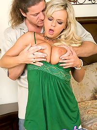 Bree Olson getting fucked : Bree Olson sucks fucks and gets cum on her titties