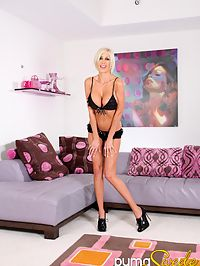Two hot babes getting off : Puma Swede and Dylan Ryder having girl on girl fun