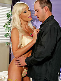 Puma Swede getting fucked : Busty blonde hottie Puma Swede sucking and fucking