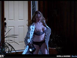 Estella Warren displays her seductive cleavage in sexy bathing suits
