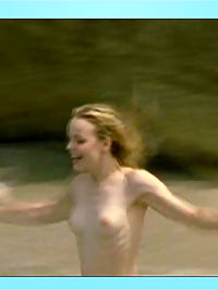 Rachel McAdams bares her perky tits at the beach while skinny dipping