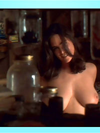 Jennifer Connelly removes black bikini, exposing her jugs on the beach