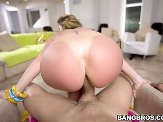 Sara is awesome because she is down for whatever you have to offer. For example, a lesbo scene with Krystal Star! Krystal has a hefty size ass on her as well!