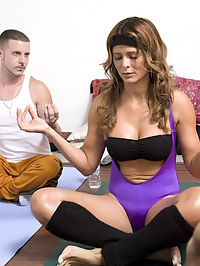 Theres alot to be said about taking a yoga class. Hot babe is already stretched and ready for a hot pounding