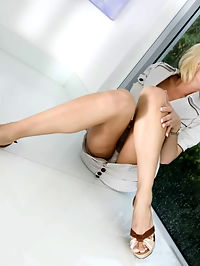 Hot ass blonde MILF who loves to suck cock and takes a big cock in her well trained pussy