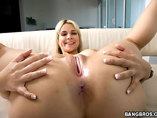 Full gallery of Sarah taking her first Monster COCK! Im sure well see more of her after this episode of trying to swallow but her tight pussy swallows it EASILY!