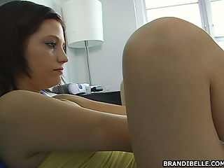 brandi loves pulling on dick with her feet!