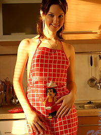 Kiss the cook is all adel has on her mind completely naked and only in an apron