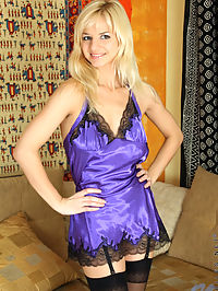 Beautiful sexy Natisha loves to drill her twat with her big vibrator when she is on the sofa