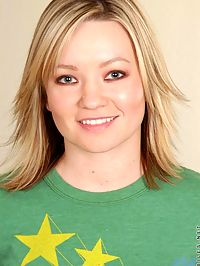 Cute teen tracy looks so cute with her green tshirt on and off her sweet small tits
