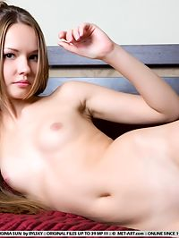 VIRGINIA SUNPLIET by RYLSKY : This young gal is totally shaved and waiting for you.