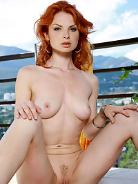 NATALIA ACUIVRE by VORONIN : Burning hot red head with matching trimmed tiny red bush will create flames from her oh so hot body.
