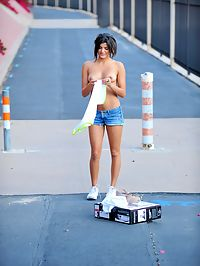 Trisha gets out her rollerblades
