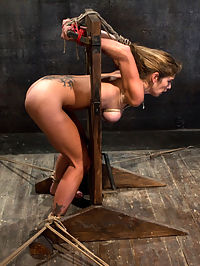 Hard Bodied Slut, Felony, is Torn Apart During a Long Day of Brutal Torture : This is another of my test shoots when I first applied to Kink.com. Felony is as hard as they come and I wanted to show case her skills as a heavy bottom and how far she is willing to be pushed. I have worked with her for years and over that time I have learned all of her buttons and exactly how to push them. After ripping her clothes off, I start her off with a nasty crotch rope. I want that pussy nice and tender for the entire day.The day goes on and the pain and torment just get more intense. This slut, although now Domming most of the time, needed to be reminded of how much of a submissive whore she really is. The reason she is such an intense Domme on other sites, is because she is capable of taking more than she dishes out, and this update proves it.