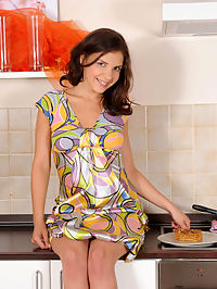 Nubiles.net Henessy - Hot Nubile Henessy fucks herself in the kitchen using a spatula : Hot Nubile Henessy fucks herself in the kitchen using a spatula