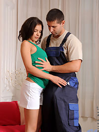Nubiles.net Henessy - Nubile Henessy gets fucked and sprayed with hot cum by the repairman : Nubile Henessy gets fucked and sprayed with hot cum by the repairman