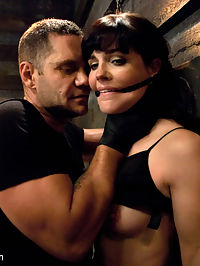 Bobbi Starr Destroyed! : Bobbi Starr returns for her most intense Sex and Submission scene to date! She was very excited to work with Nacho Vidal who is known for being one of the best performers in rough sex. We watch Bobbi through hidden cameras in the talent office and make up room and then send Nacho to bring her down to the set sooner than she anticipated. Bobbi drifts in and out of sub space as she is ruthlessly manhandled and fucked into oblivion. She lets him do anything he wants. Then in bondage on all fours and held in place with an ass hook attached to her harness gag, Bobbi helplessly endures pain and pleasure. Finally, with her legs pinned back in another strict bondage position, Bobbi comes hard from being relentlessly fucked! Extreme kinky sex with great chemistry not to be missed!