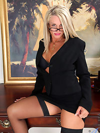 Anilos.com Jenajackson - Horny mature secretary flaunts her naked body atop her desk : Horny mature secretary flaunts her naked body atop her desk
