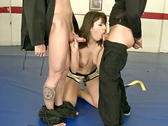 Norah Swan doing anal hardcore sex in the dojo