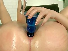 Sexy petite brunette is loving anal hardcore sex