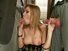 Babe get in a hardcore dp action and gets facial